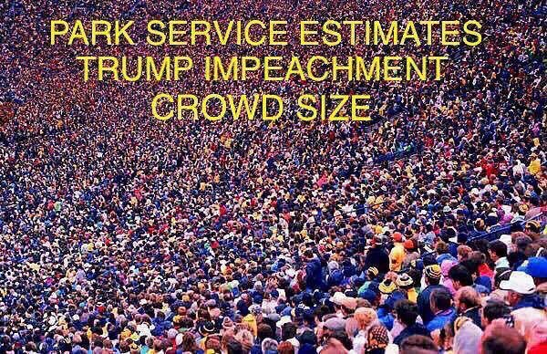 trump impeachment crowd size meme
