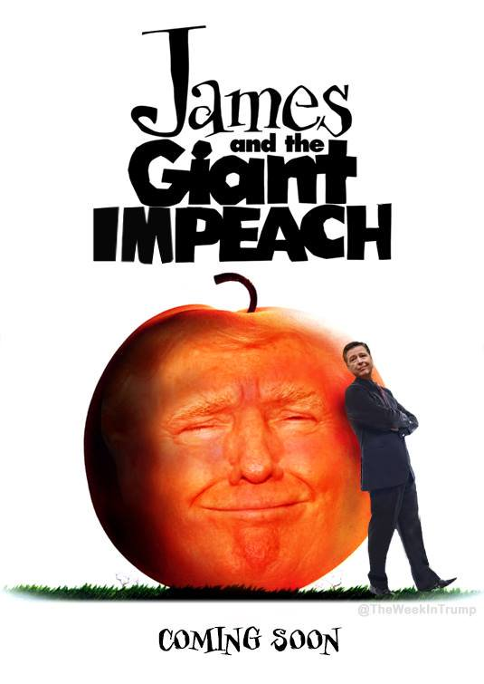 james and the giant impeach meme