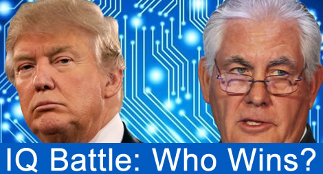 trump tillerson iq battle highest score